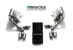 Ligne d'échappement sport Cat-Back inox ARMYTRIX à valves pour Porsche 997.1 (2004-2008)