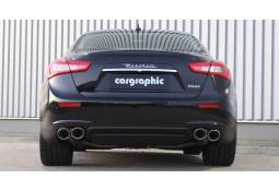 Echappement sport inox CARGRAPHIC à valves pour Maserati Ghibli 3,0 V6 / S / S Q4 (M157)