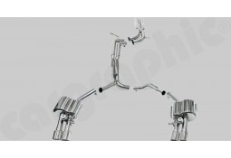 Ligne d'échappement Cat-Back Inox à valves CarGraphic® Audi A7/S7 (4G)