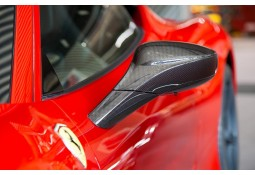 Coques de rétroviseurs Carbone CAPRISTO Ferrari 488 GTB / GTS