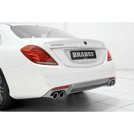 Echappement BRABUS Mercedes Classe S500 CGI Normal + Longue + Maybach (W/V/X222) (-06/2017) -Ligne Cat-Back + Diffuseur