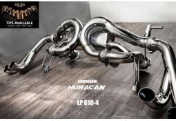 Echappement Fi EXHAUST Lamborghini Huracan LP610-4 (2014+) -Ligne Cat-Back à valves