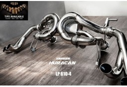 Echappement Fi EXHAUST Lamborghini Huracan LP610-4 (2014+) -Ligne Cat-Back à valves