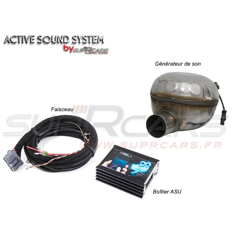 Active Sound System AUDI A3 1,6 2,0 TDI 8V by SupRcars® (08/2012+)