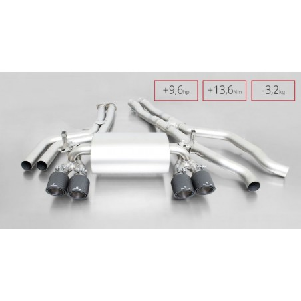 Echappement REMUS Bmw M4 F82 / M3 F80 - Ligne Cat-Back à valves