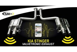Echappement TUBI STYLE Kia Stinger 3,3 T -GDI V6 -Silencieux à valves (2017+)