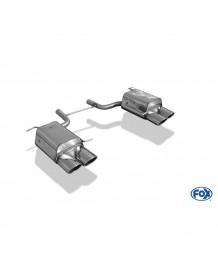 Echappement FOX Mercedes SLK 200 / 250 CGI et 250 CDI (R172) -Silencieux 4 sorties