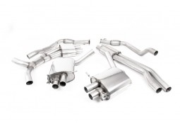 Ligne d'échappement Cat-Back à valves MILLTEK Audi RS4 (B9) (2018+) (Homologuée)