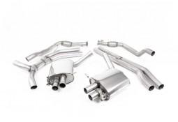 Ligne d'échappement Cat/Fap-Back à valves MILLTEK Audi RS4 & RS5 FAP/OPF(B9) (2019+) Road+