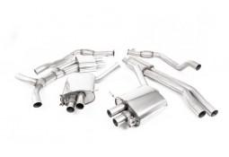 Ligne d'échappement Cat/Fap-Back à valves MILLTEK Audi RS4 & RS5 FAP/OPF(B9) (2019+) Homologuée