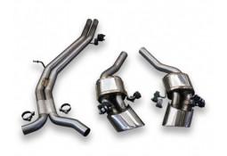 Echappement TUBI STYLE Audi RS4 FAP/OPF B9 (2018+)-Ligne Fap-Back à valves