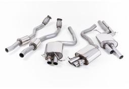 Ligne d'échappement Cat-Back à valves MILLTEK Audi RS4 (B8) (2012+)(Homologuée)