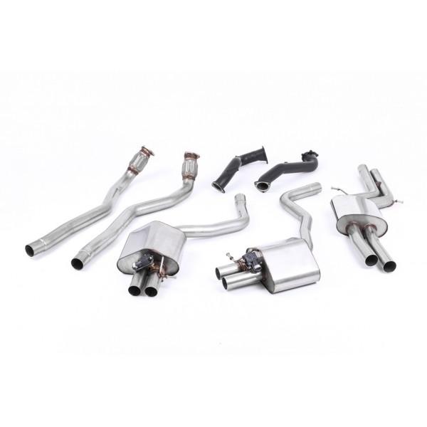 Ligne d'échappement complète à valves MILLTEK Audi RS6 / RS7 C7 4,0 TFSI (2013-2018) (Road+)
