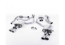 Ligne d'échappement Cat-Back à valves MILLTEK Audi S4 & S5 Sportback B9 (2016+) (Homologuée)