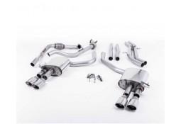 Ligne d'échappement Cat-Back à valves MILLTEK Audi S4 & S5 Sportback B9 (2016+) (Racing)