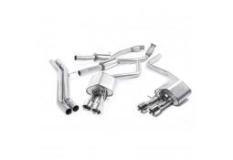 Ligne d'échappement Cat-Back à valves MILLTEK Audi S8 4,0 TFSI (2013+)