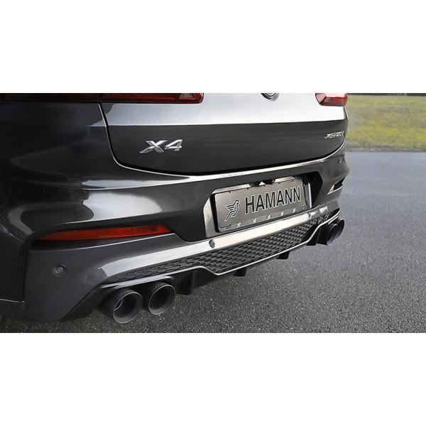 Diffuseur arrière + 4 embouts HAMANN BMW X4 xDrive 30d (G02)(2018+)