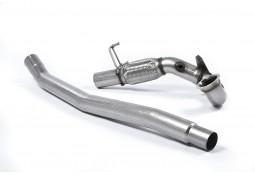 Downpipe + Suppression catalyseurs MILLTEK VW Golf 7R & 7.5R 2,0 TSI 300/310Ch sans FAP (2013-2018)