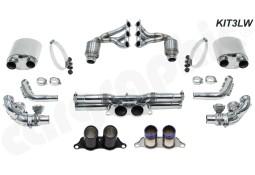 Echappement CARGRAPHIC Porsche 991.1 GT3 / GT3 RS  -Ligne complète 3 Ultra Légère Inox