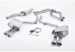 Ligne d'échappement Cat-Back à valves MILLTEK Sport AUDI S4 & S5 3,0 V6 B8 Coupé / Cabrio / Sportback (2011-2016)