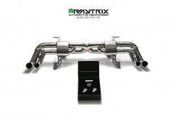 Echappement Inox ARMYTRIX Audi R8 V8 4.2 FSI Coupé/Spyder - Cat Back à valves (2007-2012)