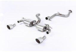 Ligne d'échappement Cat-Back à valves MILLTEK Ford Focus RS MK2 2,5T 305Ch (2009-2010)(Sport)
