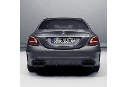 Diffuseur arrière + embouts échappements C63 AMG Facelift Mercedes Classe C Berline/Break (W/S205) Pack AMG (03/2014+)