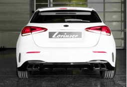 Silencieux arrière + Diffuseur + Embouts  LORINSER Mercedes Classe A160 A180 A200 Essence (W/V177) Pack AMG (2018+)