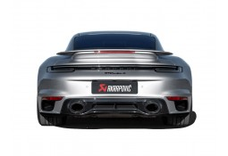 Lèvre arrière Titane AKRAPOVIC Porsche 992 Turbo + S  OPF/FAP (2021+)