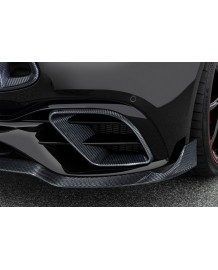 Inserts de pare-chocs avant carbone BRABUS Mercedes Classe E63 S AMG Facelift (W213)(07/2020+)