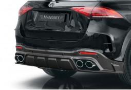 Diffuseur Carbone + Embouts d'échappement MANSORY pour Mercedes GLE53/63 AMG & GLE Pack AMG SUV (V167)(2020+)