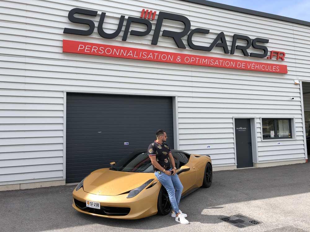 Covering de la Ferrari 458 de Jordan